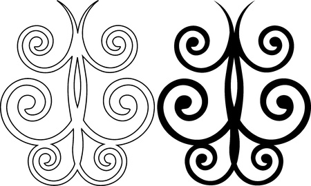 Two ornamental butterflies  Vector Vector