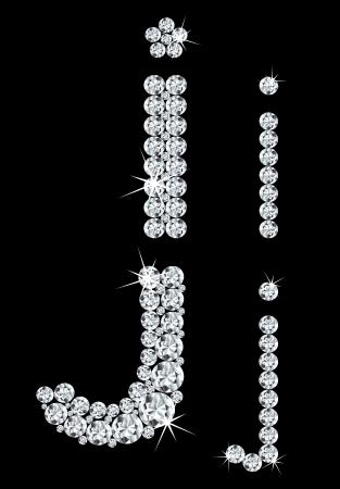 Set of diamond alphabetic letters  Stock Vector - 16028897