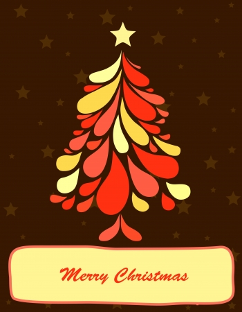curle: Abstract christmas tree  Vector