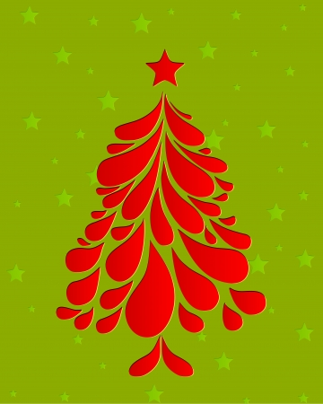 Abstract red christmas tree  Vector Vector