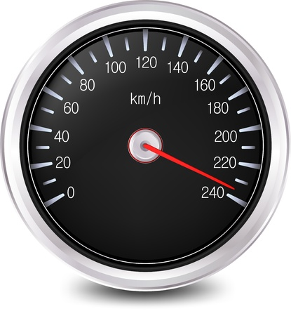 rev counter: Automobile Speedometer  Vector Stock Photo
