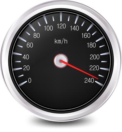 compteur de vitesse: Vecteur Compteur de vitesse automobile Banque d'images