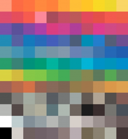 Cmyk color Tones Dynamic Transformations  Vector Vettoriali