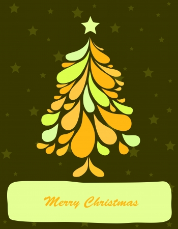 curle: Abstract green christmas tree  Vector