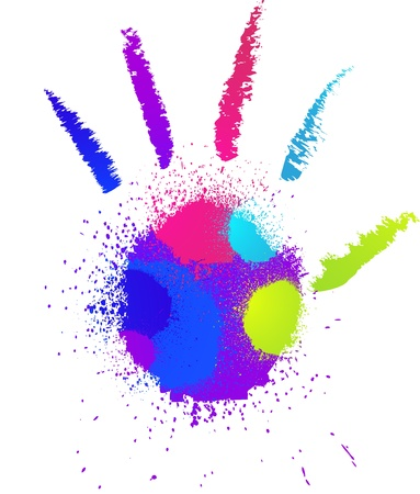 Abstract grunge hand  Vector Stock Vector - 16307092