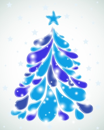 curle: Abstract blue christmas tree