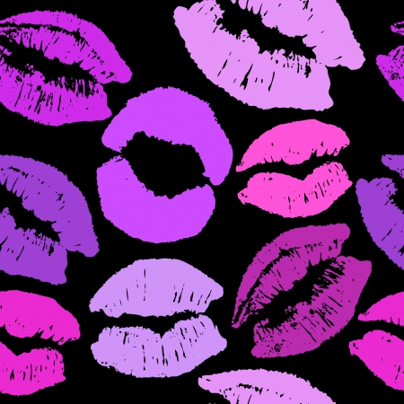 Vector seamless background with lips Vector