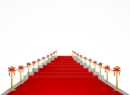 Red carpet and stairs for VIP persons Stock Vector - 17044063