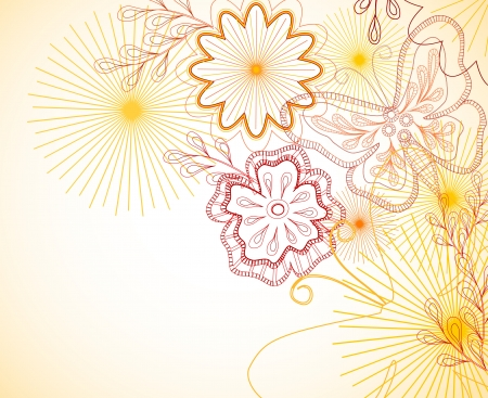 Hand-Drawn floral ornament Stock Vector - 17044066