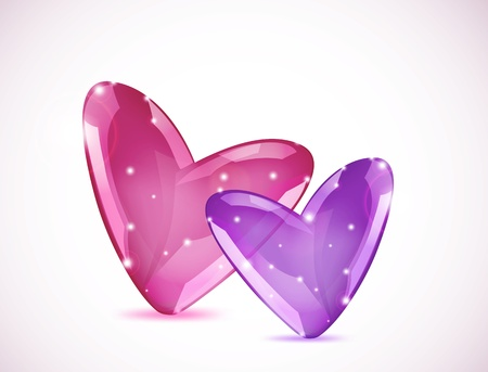 Bubbles Of Hearts Stock Vector - 17242730