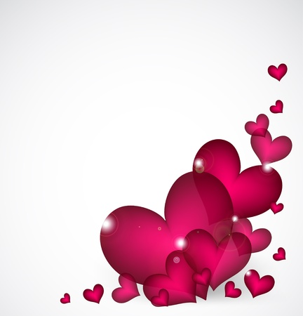 Valentines Day Background with pink hearts Stock Vector - 17247507