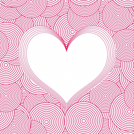 Seamless Swirl Pattern with heart Stock Vector - 17247492