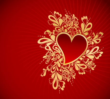 Heart To The St Valentine Stock Vector - 17284861