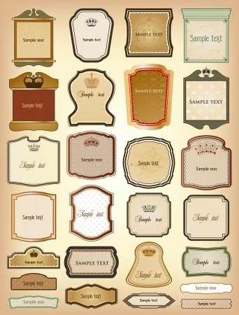 Ornamental gold of frames   collection Vector