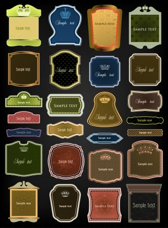 Ornamental colorful frames   set Stock Vector - 17367012