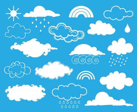 Elements of weather   set Stock Vector - 17367020
