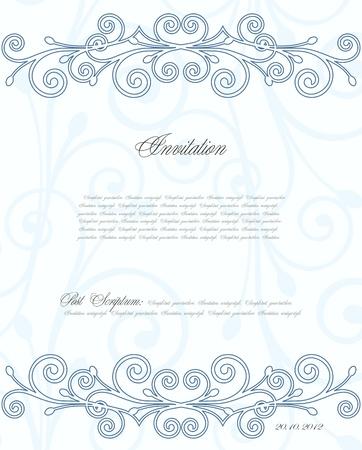 Blue floral background for design Stock Vector - 17367009