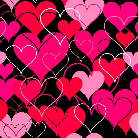 Hearts pink seamless Background  Vector Stock Vector - 17412649