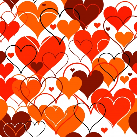 Hearts seamless Background  Vector Stock Vector - 17412650