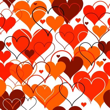 Hearts seamless Background  Vector Stock Vector - 17412650