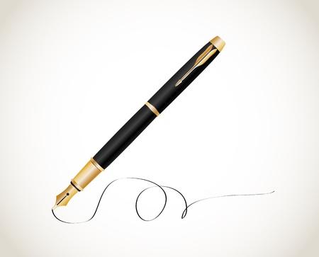 Fountain pen   Stock Vector - 18519258