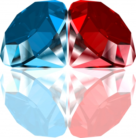 valueables: Red and blue diamonds