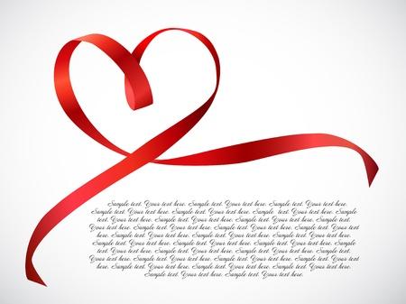 tally: Red heart ribbon bow