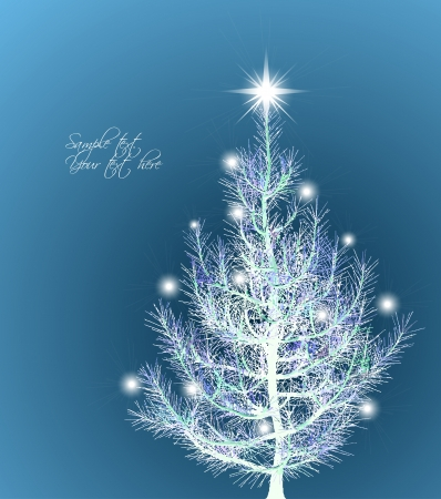 firtree: Christmas background with fir-tree  Vector