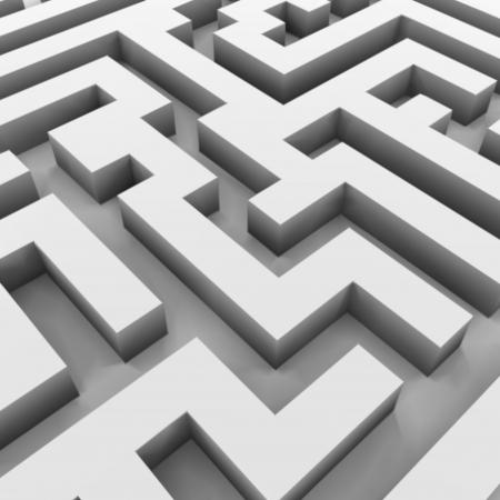 ambiguous: Maze  labyrinth   Vector illustration