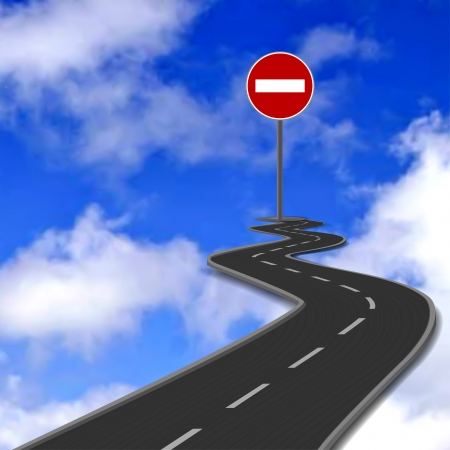 Road, red stop road sign and blue sky  Vector Stock Vector - 19672253