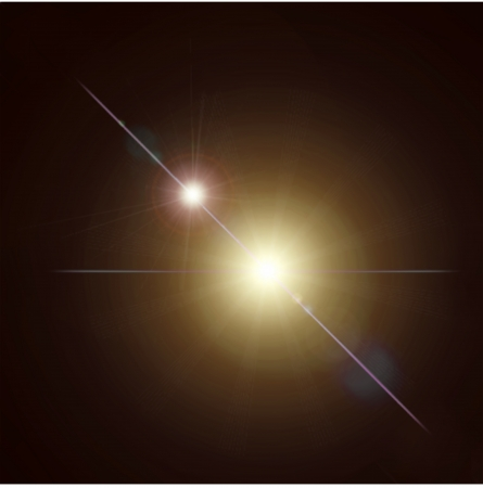 Abstract lens flare light over dark background. Vector Vector