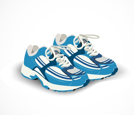 running shoes: Sport shoes, sneakers  Vector illustration