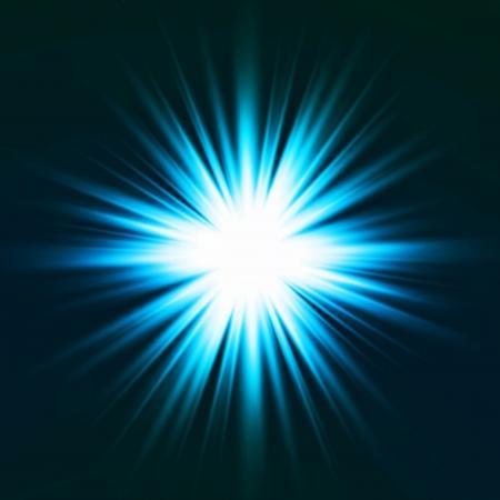 Light flare blue effect