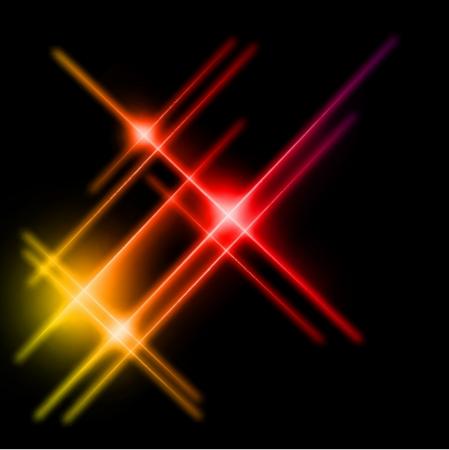irradiate: Resumen de color amarillo y rojo rayas luces. Ilustraci�n vectorial Vectores
