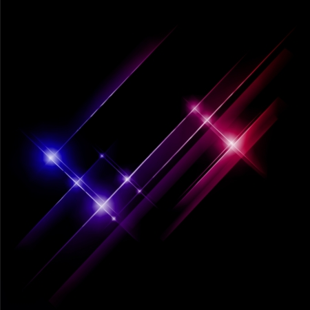 Abstract blue and red rays lights. Vector illustration Stock Vector - 20595157
