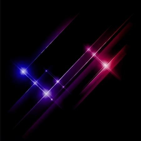 irradiate: Resumen azul y rojo rayas luces. Ilustraci�n vectorial