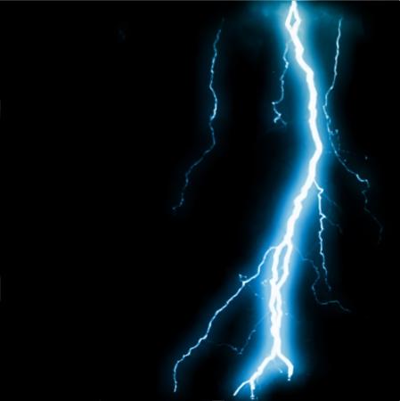 Abstract blue lightning flash background. Vector illustration