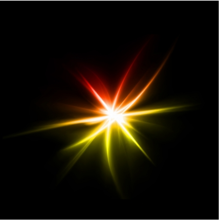 Abstract yellow and red rays lights. Vector illustration Illustration