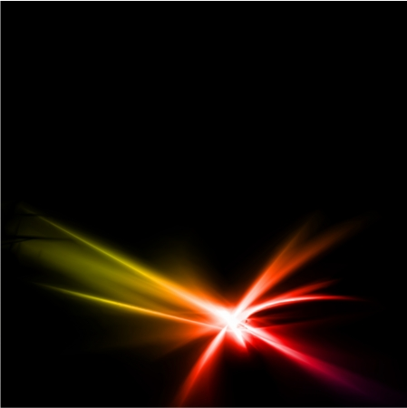 Abstract yellow and red rays lights. Vector illustration Stock Vector - 20595226