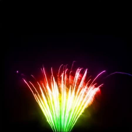 aerial bomb: Fireworks in the night sky. Vector illustration