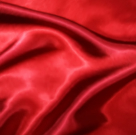Red Silk Fabric texture. Vector illustration Vector