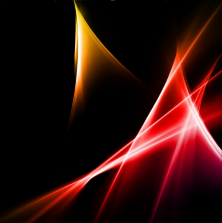 Abstract yellow and red rays lights. Vector illustration Stock Vector - 20595247