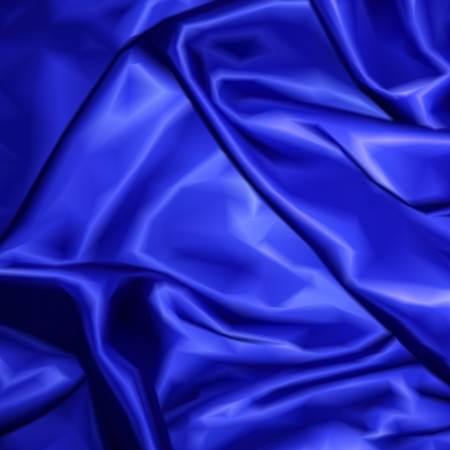 Blue fabric satin texture for background. Vector illustration Vector
