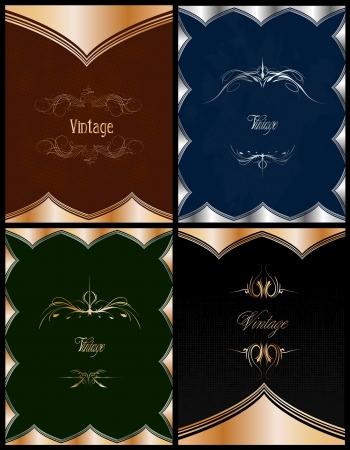 Set of Vintage Floral background. Vector illustration Stock Illustration - 20595324