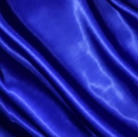 Blue fabric satin texture for background. Vector illustration illustration