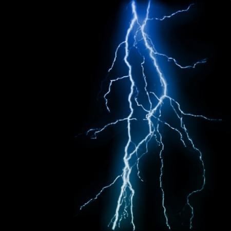 Abstracte blauwe achtergrond van de bliksemflits. Vector illustratie Stockfoto