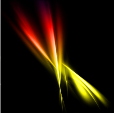 irradiate: Abstract yellow and red rays lights. Vector illustration Stock Photo