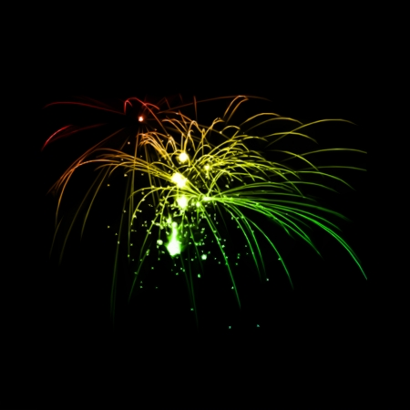 aerial bomb: Fireworks in the night sky