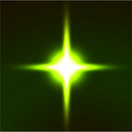 Light flare green effect  Vector photo