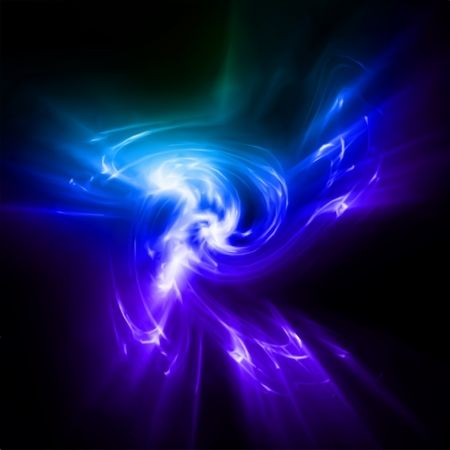 Abstract blue rays lights  Vector photo